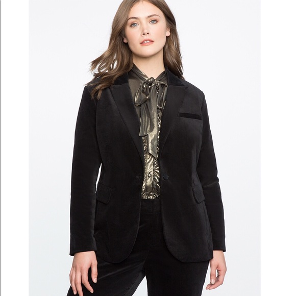 2fb10219572 Eloquii Velvet Blazer Plus Size Career Jacket 3X